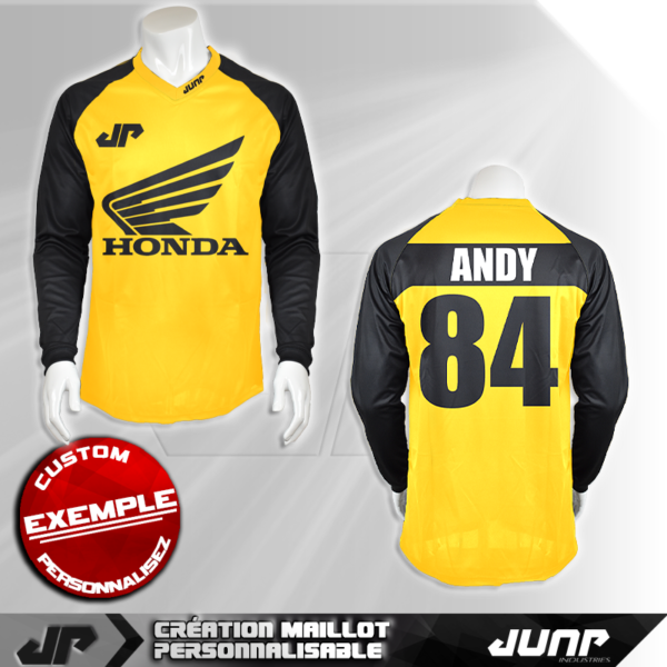 personnalisation maillot andy 84