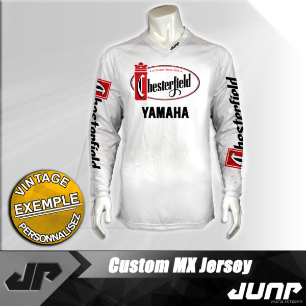 personnalisation maillot yamaha chesterfield vintage jump industries