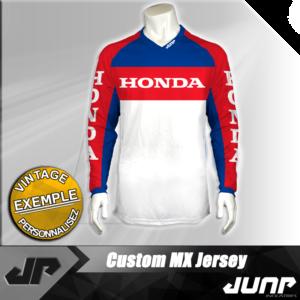 personnalisation maillot honda vintage jump industries