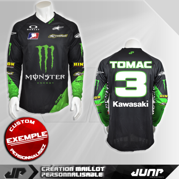 personnalisation maillot tomac 3 jump industries