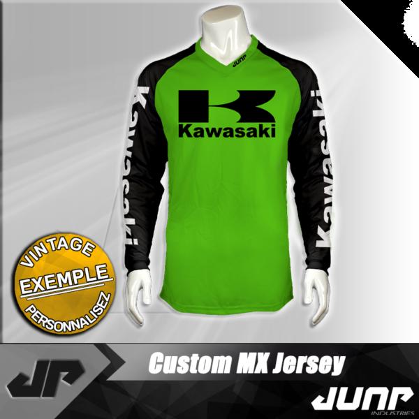 personnalisation maillot kawasaki vintage jump industries