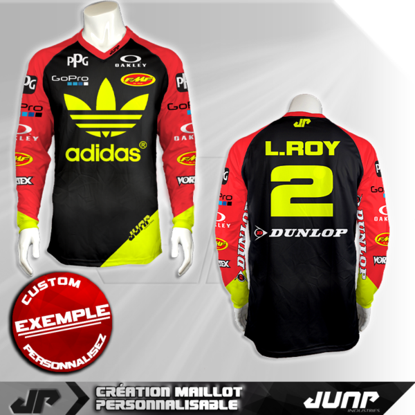 personnalisation maillot seattle l.roy 2 jump industries