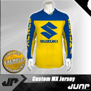 personnalisation maillot suzuki vintage jump industries