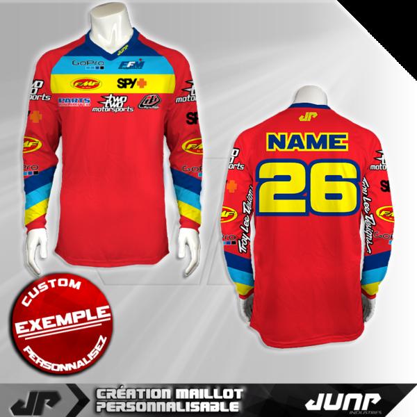 personnalisation maillot austin troylee 26 jump industries