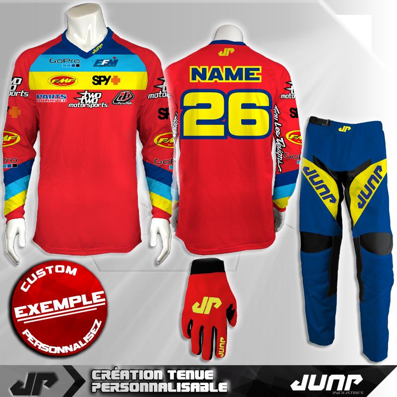 tenue personnalise custom mx outfit austin jump industries