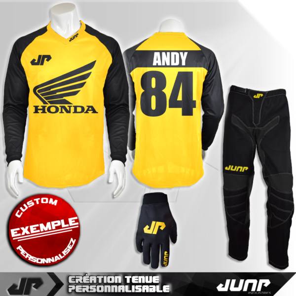 tenue personnalise custom mx outfit austin jump industries
