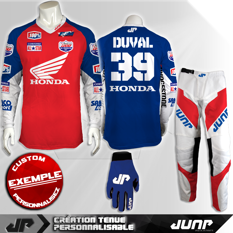 tenue personnalise custom mx outfit portland jump industries