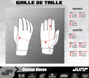 grille taille gant jump industries