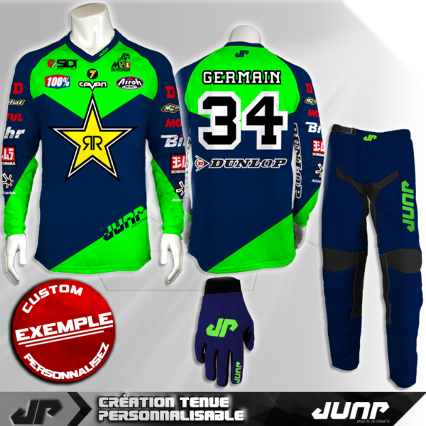 tenue personnalise custom mx outfit jackson jump industries