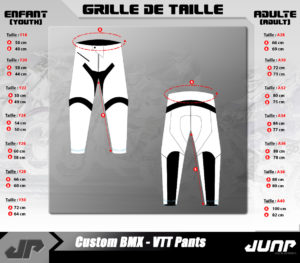 grille taille pantalon jump industries