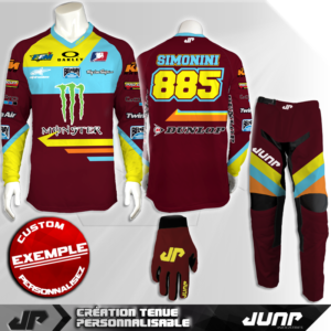 tenue personnalise custom mx outfit fayetta jump industries