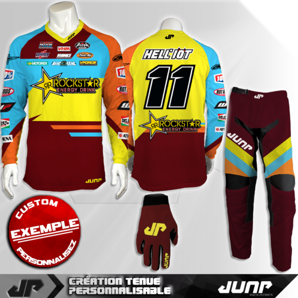 tenue personnalise custom mx outfit fontana jump industries