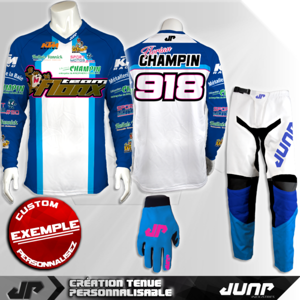 tenue personnalise custom mx outfit glendale jump industries