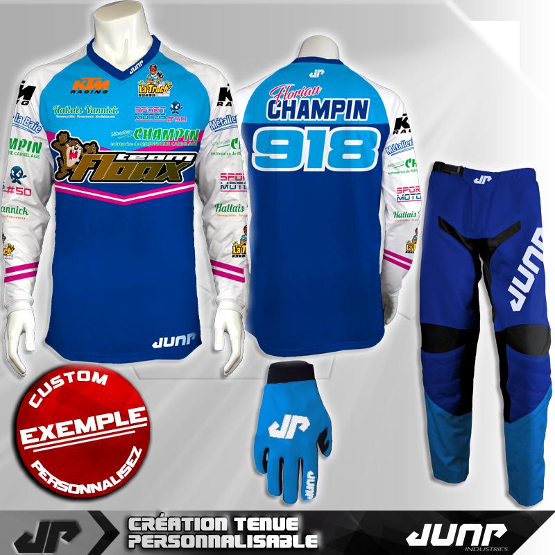 tenue personnalise custom mx outfit greensboro jump industries