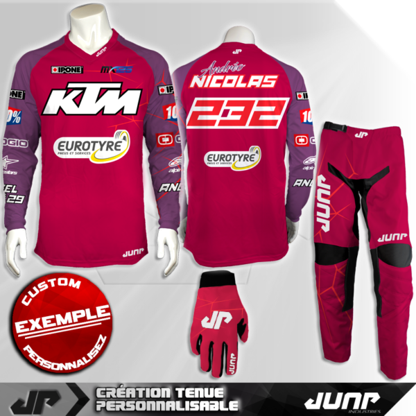 tenue personnalise custom mx outfit nashville jump industries