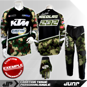 tenue personnalise custom mx outfit tucson jump industries