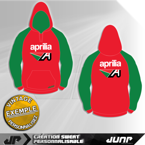 sweat capuche hoodie personnalise aprilia jump industries