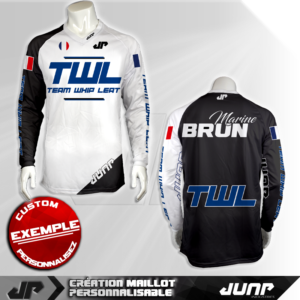 personnalisation maillot twl jump industries