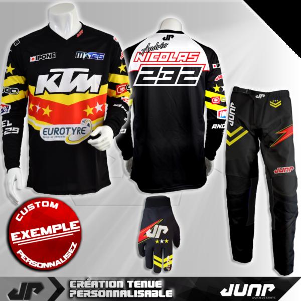 tenue personnalise custom mx outfit aurora jump industries