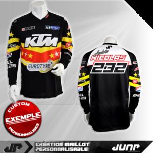 personnalisation maillot aurora jump industries