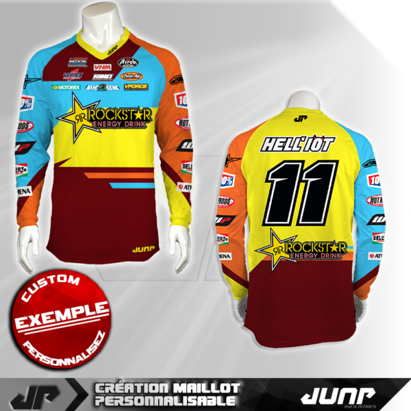 personnalisation maillot fayetta jump industries