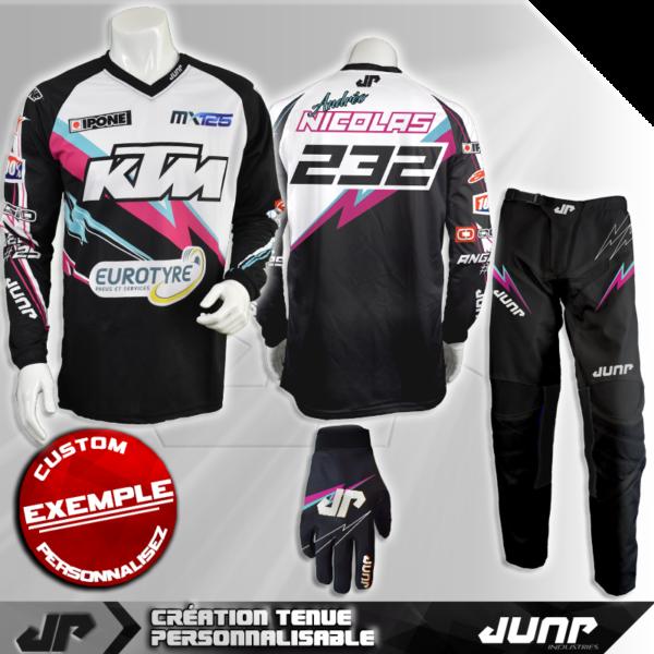 tenue personnalise custom mx outfit norfolk jump industries