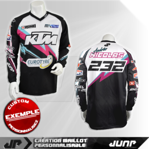 personnalisation maillot norfolk jump industries