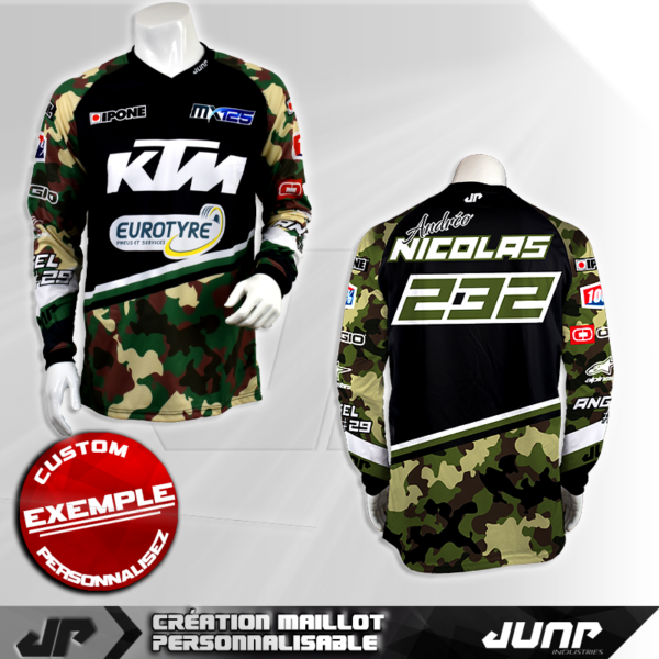 personnalisation maillot tucson jump industries