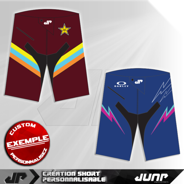 short bermuda personnalise bmx vtt pants jump industries