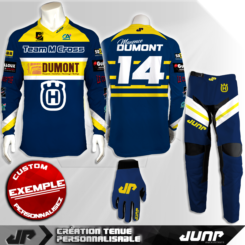 tenue personnalise custom mx outfit fremont jump industries
