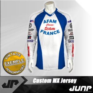personnalisation maillot afam classic vintage jump industries