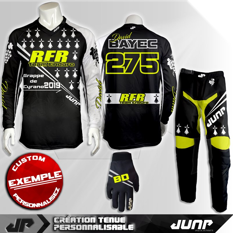 tenue personnalise custom mx outfit brittany jump industries