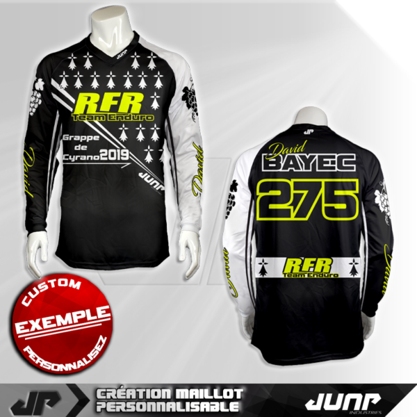 personnalisation maillot brittany jump industries