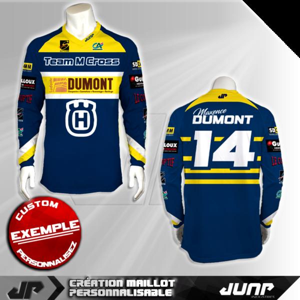 personnalisation maillot fremont jump industries