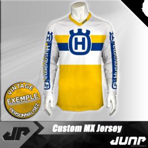 personnalisation maillot husqvarna vintage jump industries