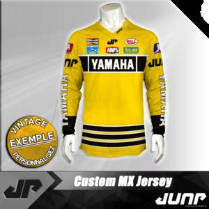 personnalisation maillot yamaha vintage jump industries