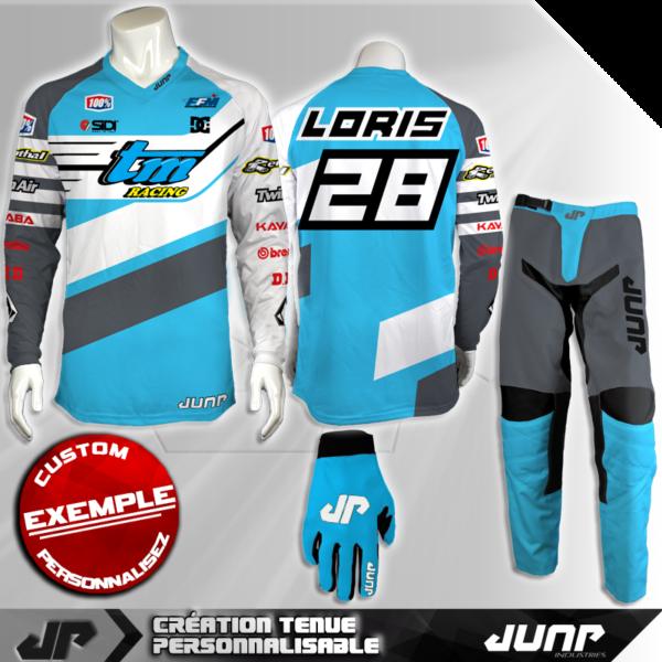 tenue personnalise custom mx outfit milwaukee jump industries