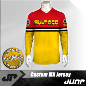 maillot vintage bultaco personnalise jump industries