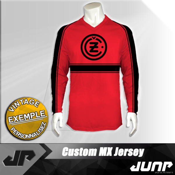 maillot vintage cz personnalise jump industries