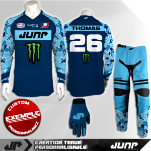 tenue personnalise custom mx outfit dreamblue jump industries
