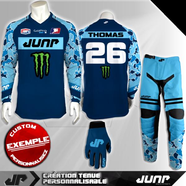 tenue personnalise custom mx outfit dreamblue jump industries