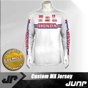 maillot vintage honda personnalise jump industries