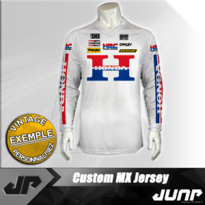 maillot vintage honda personnalise jump industries