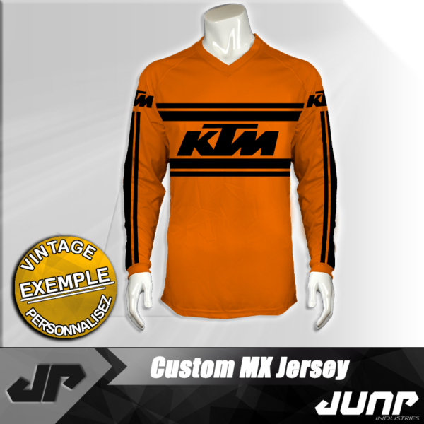 maillot vintage ktm personnalise jump industries