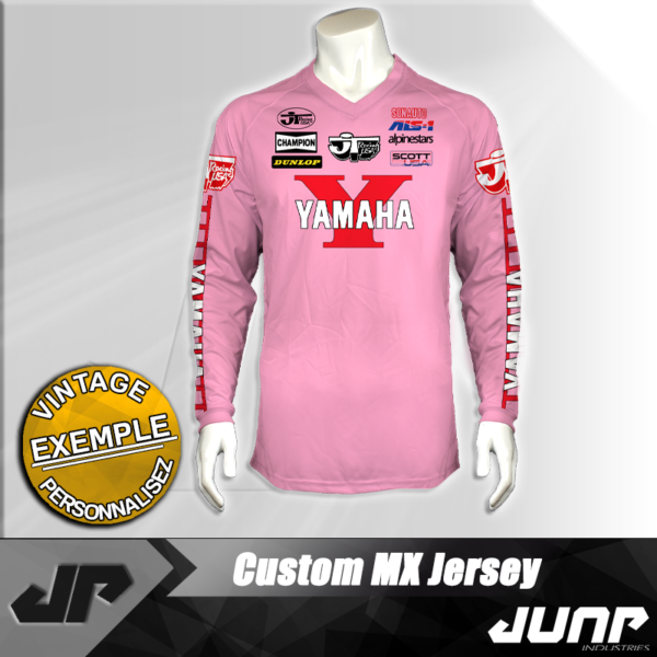 maillot vintage pink personnalise jump industries