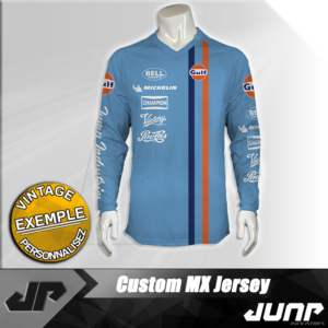 maillot vintage steve gulf personnalise jump industries