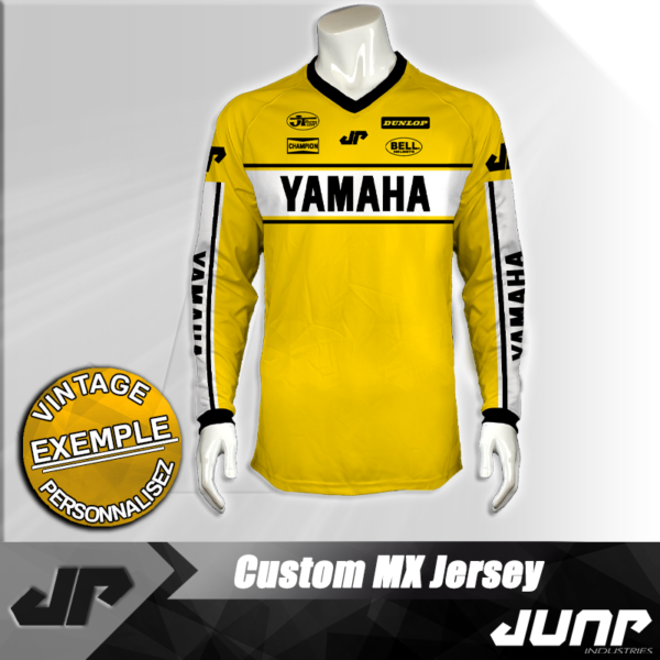 maillot vintage yamaha personnalise jump industries