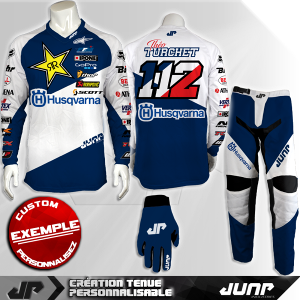 tenue personnalise custom mx outfit frasharp jump industries