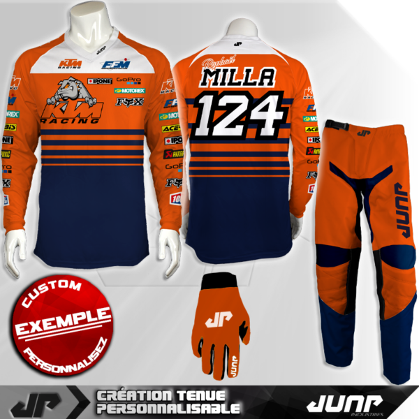 tenue personnalise custom mx outfit bullinderjump industries