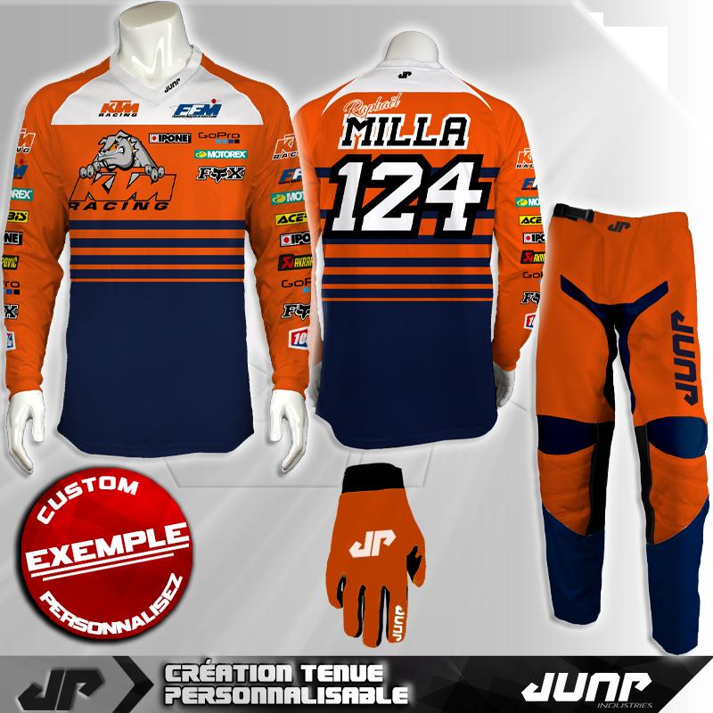 tenue personnalise custom mx outfit bullinderjump industries